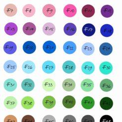 Farbtabelle mit Nummern