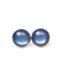 Blau schimmernde Polaris Ohrstecker / Ohrhänger / Ohrclips