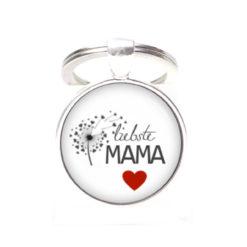 Schlüsselanhänger Liebste Mama - beste Mama - Herz Anker
