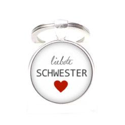 Schlüsselanhänger liebste Schwester - Herz Lieblingsmensch