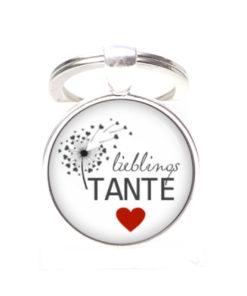 Schlüsselanhänger Lieblings Tante Liebste Tante - Herz, Lieblingsmensch