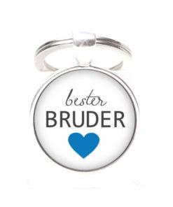 Schlüsselanhänger bester Bruder liebster Bruder - Herz Lieblingsmensch