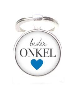 Schlüsselanhänger bester Onkel liebster Onkel - Herz Lieblingsmensch