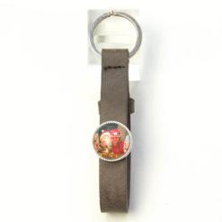 Schlüsselanhänger Leder dunkelbraun mit eigenem Bild