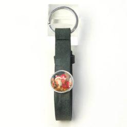 Schlüsselanhänger Leder anthrazit mit eigenem Bild