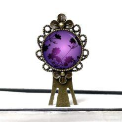 Lesezeichen Klammer mystische violette Blumen