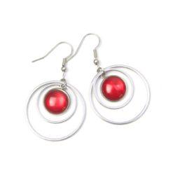 Edelstahl Ohrringe mit schimmernden Polaris Perlen - Farbwahl