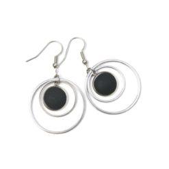 Edelstahl Ohrringe mit matten Polaris Perlen - Farbwahl