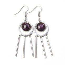 Verspielte Edelstahl Ohrringe mit schimmernden Polaris Perlen - Farbwahl