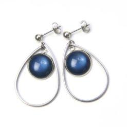 Elegante Edelstahl Ohrringe mit schimmernden Polaris Perlen - Farbwahl