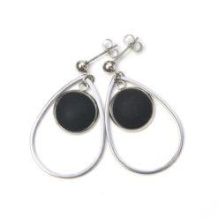 Elegante Edelstahl Ohrringe mit matten Polaris Perlen - Farbwahl