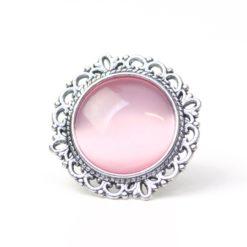 Großer Vintage Cateye Ring in rosa
