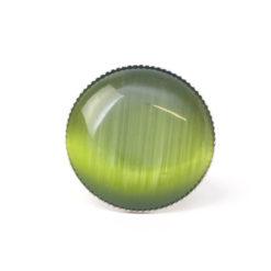 Großer Cateye Ring in olive grün - verstellbar