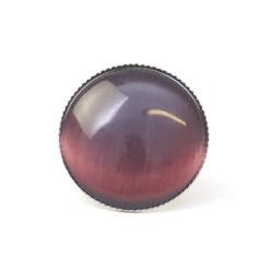 Großer Cateye Ring in violett - verstellbar
