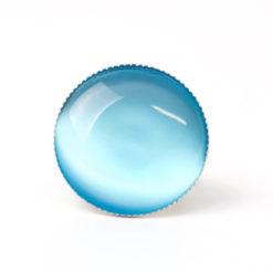 Großer Cateye Ring in türkisblau - verstellbar