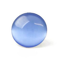 Großer Cateye Ring in jeansblau - verstellbar