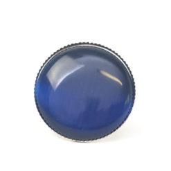 Großer Cateye Ring in dunkelblau - verstellbar