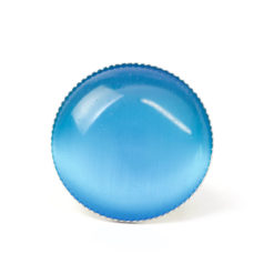 Großer Cateye Ring in himmelblau - verstellbar