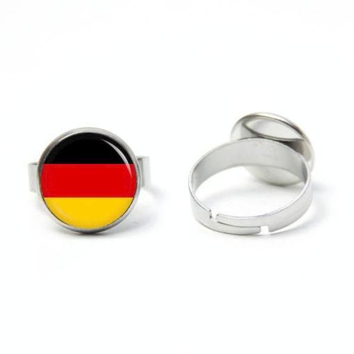 Edelstahl Ring Fußball EM WM deutsche Flagge - verschiedene Größen
