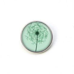 Druckknopf Chunk große grüne Pusteblume Löwenzahn