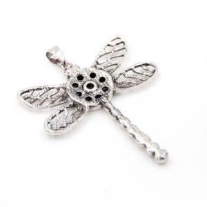 Druckknopf Anhänger Libelle für 16mm Druckknopf