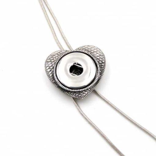 Verstellbare Y-Kette Herz für 16mm Druckknopf
