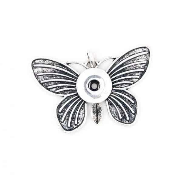 Druckknopf Anhänger großer Schmetterling für 16mm Druckknopf