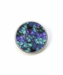 Druckknopf Mosaik Glasmosaik Puzzle türkis violett