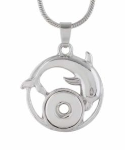Druckknopf Anhänger Delphin für 10mm mini Druckknopf