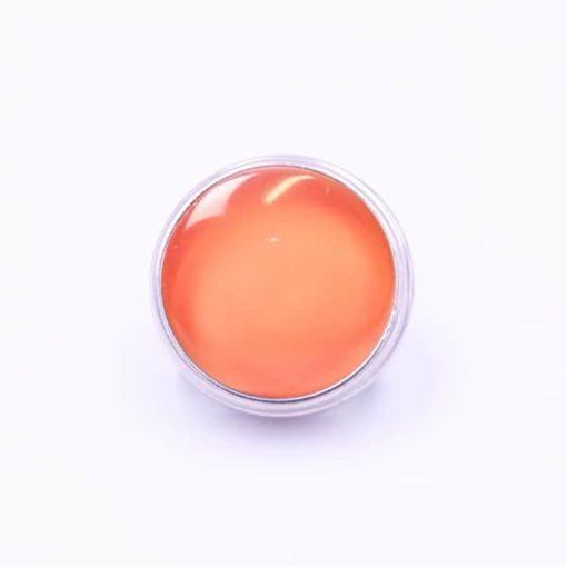 Druckknopf handbemalt Kürbis orange für Druckknopf Schmuck