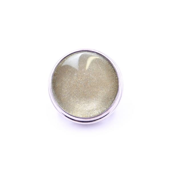 Druckknopf handbemalt gold schimmernd