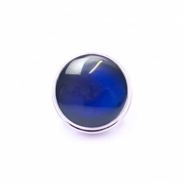 Druckknopf handbemalt Nachtblau