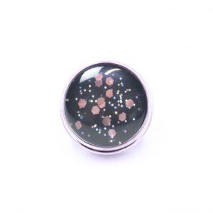 Druckknopf handbemalt pink Galaxy