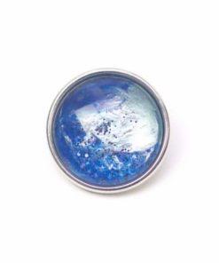 Druckknopf handbemalt wie im tiefen Ozean in verschiedenen blau Tönen