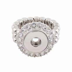 Druckknopf Ring mit Strass für 10mm mini Druckknopf