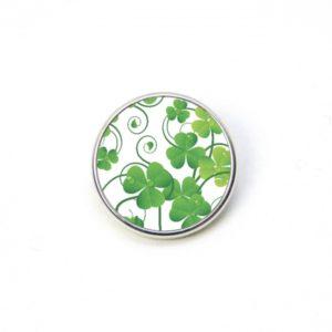 Druckknopf Kleeblatt Kleeblätter grün St. Patricks Day