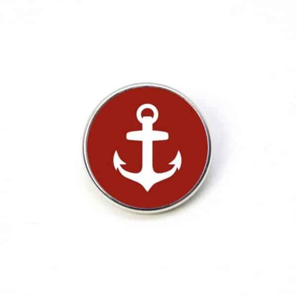 Druckknopf Anker rot weiß maritim Meer 16mm und 10mm Mini Druckknopf