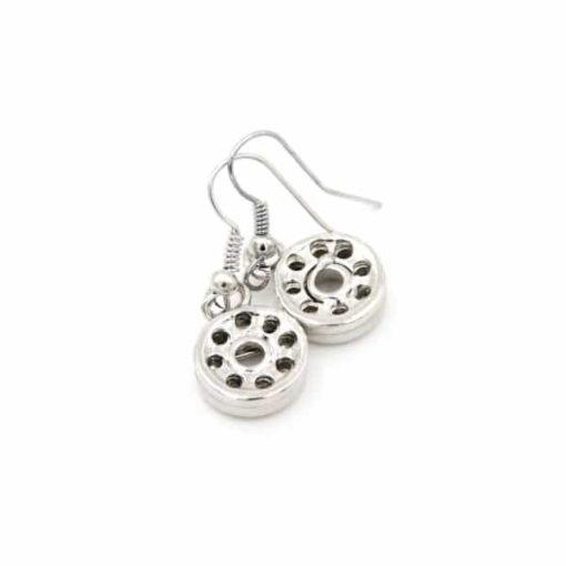 Zarte Druckknopf Ohrhänger für 10mm Mini Druckknopf