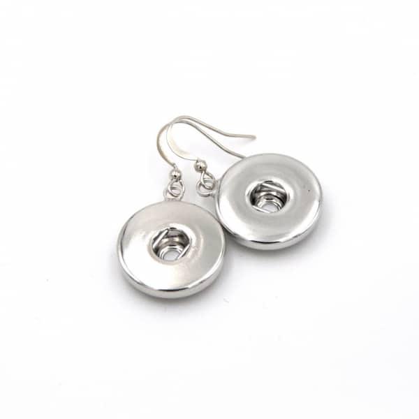 Druckknopf Ohrhänger für 16mm Druckknöpfe Edelstahl