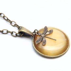 Vintage Halskette Libelle