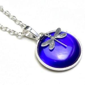 Lange Halskette Blaue Libelle