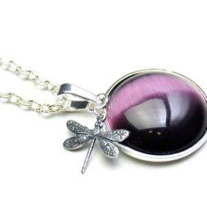Lange Halskette Violette Libelle