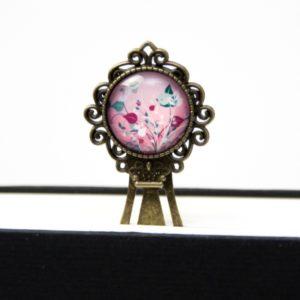 Lesezeichen Klammer Blumenwiese rosa
