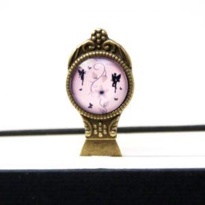 Lesezeichen Klammer Elfen in rosa