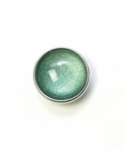 Druckknopf handbemalt majestetisch grün