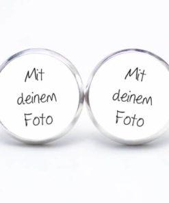 Ohrstecker / Ohrhänger mit eigenem Foto - Edelstahl