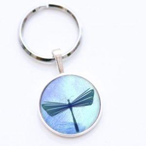 Schlüsselanhänger blaue Libelle