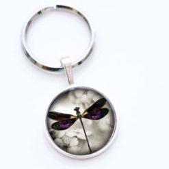 Schlüsselanhänger violette Libelle