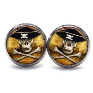 Ohrstecker / Creolen Piraten Totenkopf