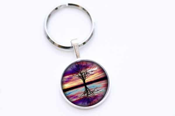 Schlüsselanhänger Regenbogen Baum